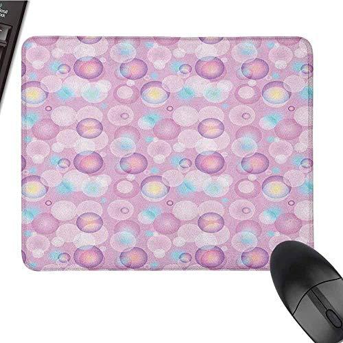 Lichtroze toetsenbord muismat waterbestendig Abstract Bubble bollen met kleur details modern en levendig