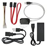 eForCity 3 in 1 USB 2.0 to SATA/IDE Adapter Cable + Power Cord