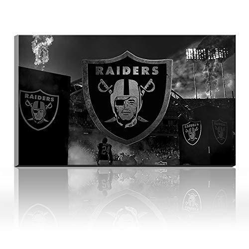 Karen Max New Creative Canvas Prints Wall Decor Oakland Raiders Logo Painting, Home Decor Football Sport Pictures - Canvas Art Wall Decor Friends New Home Gifts Frameless (16x24inch Frameless)