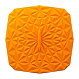 GIR: Get It Right Premium Silicone Rectangular Lid, 9 by 9 Inches, Orange