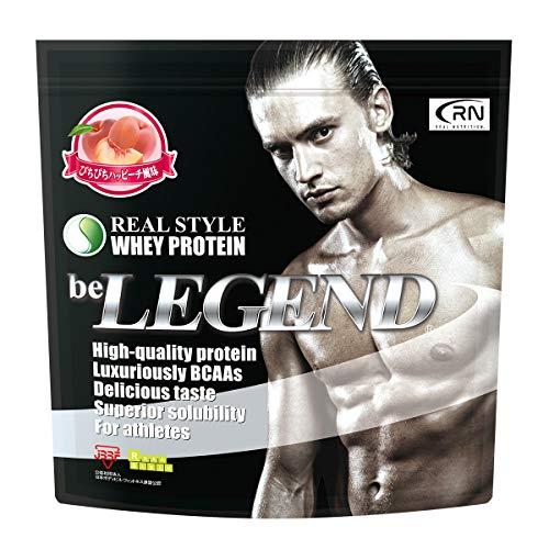 [Amazon限定ブランド] Real Nutrition ビーレジェンド ホエイプロテイン ぴちぴちハッピーチ風味【1kg】(WPC)