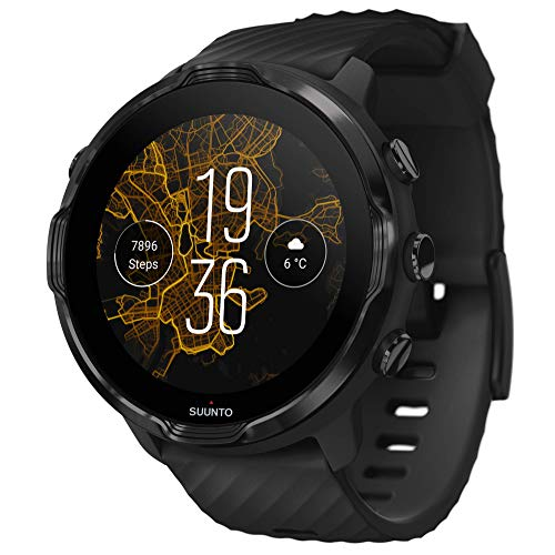 Suunto 7, GPS Sport Smartwatch with Wear OS by Google - Black