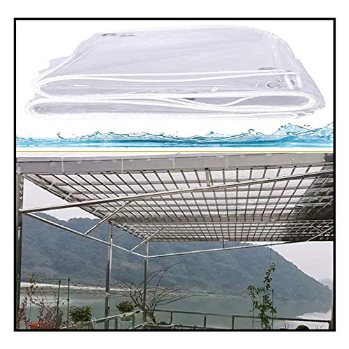 JJXL Lona Transparente, Cubierta De Hoja De Tierra De Lona Impermeable Duel Paño De Sombra Resistente Proteja Su Carpa, Plataforma, Leña O Techo (Color : Clear, Size : 1X1.5M)