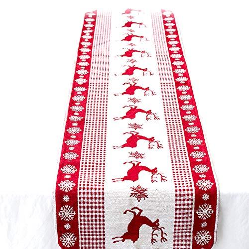 Shuda Nappe de Noël rectangulaire Salle à Manger Nappe Table couvertures pour Home Hotel Cafe Restaurant (35 * 170 cm), 1, 35 * 170cm