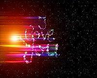 数字で描くキャンバスカラー原稿の星は輝くカラフルなDiyデジタル絵画数字で描くモダンウォールアート油絵ホリデーギフト家の装飾ビッグサイズ カスタマイズ可能 50x65cmフレームなし