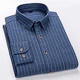 XJJZS Algodón 7XL Camisas para hombre de gran tamaño para hombres Manga larga casual delgado. (Color : Blue, Size : 6XL Asian size 46)