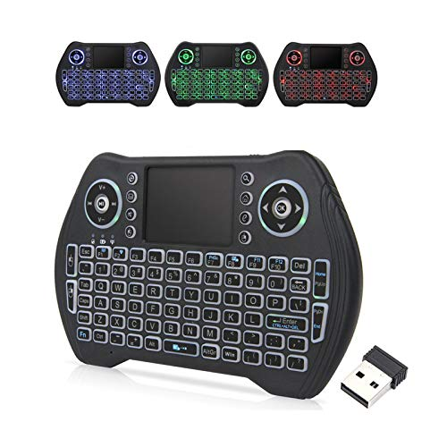 Best mini wireless keyboard - EASYTONE Backlit Mini Wireless Keyboard With Touchpad Mouse Combo and Multimedia Keys for Android TV Box HTPC PS3 Smart Phone Tablet Mac Linux Windows OS,New Model Mini Keyboard Touchpad Mouse