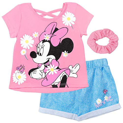 Disney Minnie Mouse Toddler Girls Fashion T-Shirt Shorts Set Pink 2T