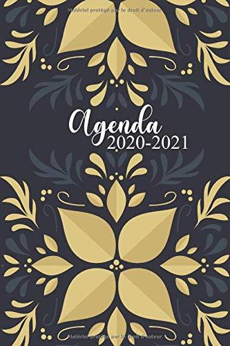 Mon Planner Journalier 2020 2021: Format 1 Jour par Page | Organisateur Journalier Semainier Mensuel Daté | Plannificateur 2020 2021 pour Noter ... Thème Fleurs Dorées Chics pour Femme et Fille