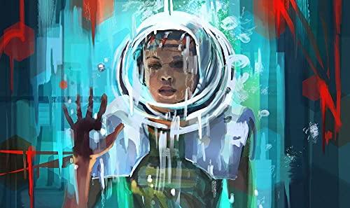 RBVC 5D DIY pintura diamante stranger things movie posters diamond painting kit completo punto cruz para adulto y niño taladro completo cuadros diamante para decoración de casa 50x70cm