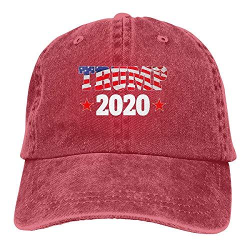 Yuanmeiju Gorra de Mezclilla USA Trump 2020 Unisex Vintage Washed Distressed Baseball Cap Twill Adjustable Dad Hat