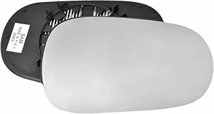 Clip On Passenger left hand side wing door Silver mirror glass with backing plate #W-SN//L-NNMA03