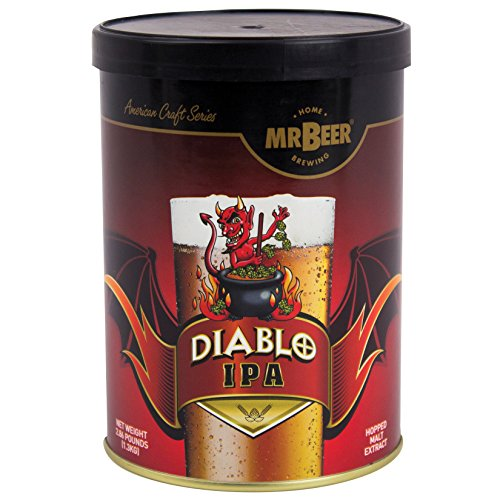 Mr. Beer Diablo IPA 2 Gallon Craft Beer Refill Kit, Contains Hopped Malt Extract Designed for Consistent, Simple and Efficient Homebrewing