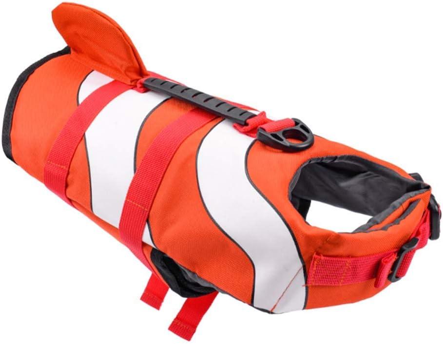 Great interest XiYou Dog Life Jacket Doggy Flotation Directly managed store Device Adjustable Ripstop