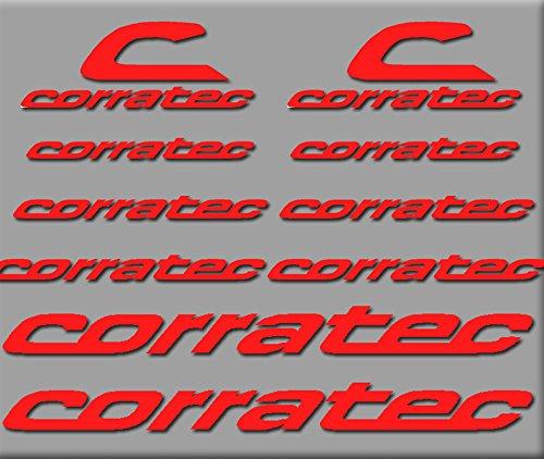 Ecoshirt VT-UQRN-G69Y Aufkleber Corratec Bici R208 Stickers Aufkleber Decals Autocollants Adesivi, rot