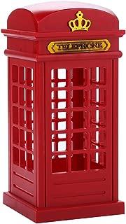 Vintage London Telephone Booth Designed USB Charging LED Night Lamp Touch Sensor Table Desk Light for Bedroom Students Dormitory Illumination Home Bar Decoration Novelty Birthday Adjustable Brightness