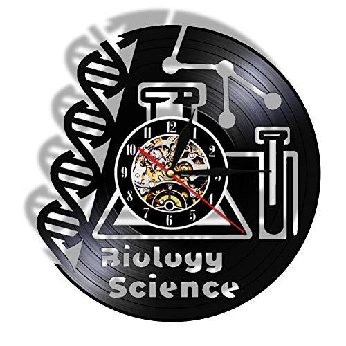 ttymei Biowissenschaft Schallplatte Wanduhr Doktorat Mikroskop Chemie Wissenschaft Klassenzimmer Schule Universität Dekoration Kunst