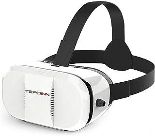 Tepoinn 3DVR ゴーグル 4.0-6.0インチのスマホ用 iPhone/Android対応 軽量VRメガネ 3D動画 映画 ビデオ ゲームに適用 ホワイト