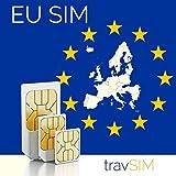 Carta SIM Prepagata Unione Europea 12GB + Chiamate Vocali E Messaggi (Paesi UE + Svizzera) Per 30 Giorni Standard Micro Nano