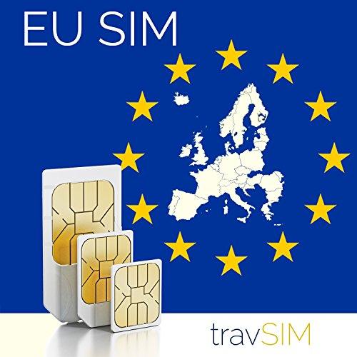 Prepaid-SIM-Karte Europäische Union 12GB + Sprachanrufe & Nachrichten (EU-Länder + Schweiz) Für 30 Tage Standard Micro Nano