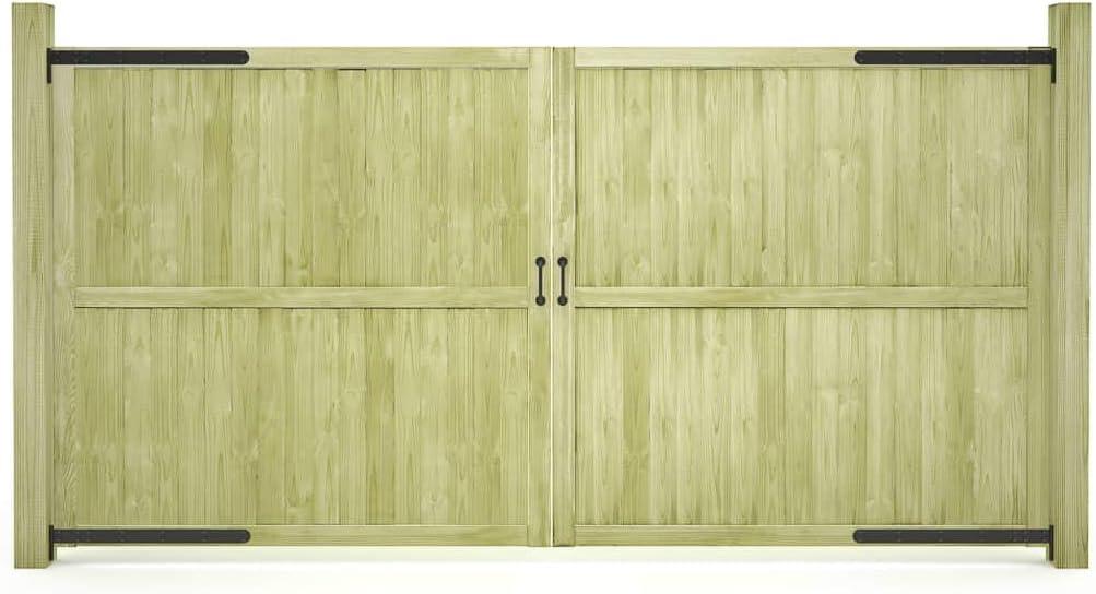 300x150cm UnfadeMemory Puerta Doble Madera Jardin R/ústico,Entrada para Valla de Jard/ín Patio o Terraza,Madera de Pino FSC Verde