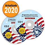 Ciudadania Americana 2020 ( 2 CD ) ENGLISH & SPANISH / INGLES & ESPAÑOL with all Official 100 USCIS Questions & Answers USA Naturalization Civic Question.