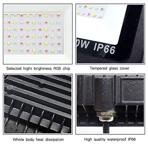 Foco Proyector Luz 30W 50W 100W Inundación Del RGB LED 16 Colores Impermeable Linterna LED Foco Reflector Al Aire Libre Con La Ubicación Remota Luz De Neón Floodlight