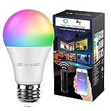 LE Lampadina LED Intelligente E27 9W Alexa, Smart Lampadine LED RGBW WiFi, Luce Dimmerabil...