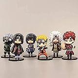 Anmine Figura 6PCS Naruto Sasuke Figura Pop Set Pequeño Anime Modelo Coleccionables Anime Regalos Juguetes Modelo Kits
