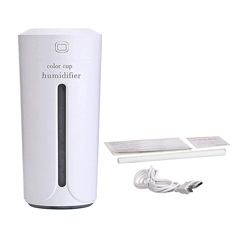 しなければならないモットーカナダSaikogoods 車のホームのための空気Moistenerノイズレスカラフルなナイトライトミストメーカーを充電ミニカップ形状の空気加湿器USB 白