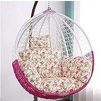 卵ハンモックチェアパッド、厚くスウィン椅子のクッション、ヘッドピロー、取り外し可能な洗える吊り下げ式シングル吊りバスケットクッション(Size:68x45cm,Color:06)