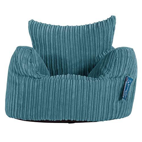 Lounge Pug®, Kindersessel Sitzsack, Sitzsack Kinder, Cord Türkis