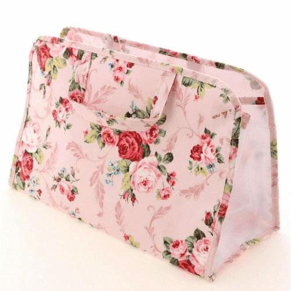 報奨金ホールド社会主義パンセアラローズ 温泉バッグ リーフローズ柄 (ピンク) スパバッグ