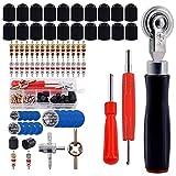 GTIWUNG Kit de Herramientas de Extracción de Vástago de Válvula de Neumático + Parche de llanta