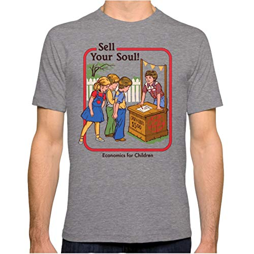 ZSHOOCL Herren Sell Your Soul Männer T Shirt XXL Tri-Grey
