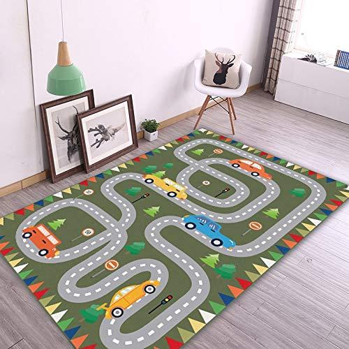 KLLKR Alfombra de Juegos para niños de tráfico por Carretera de Juegos Alfombra para niños Ideal para Sala de Estar Dormitorio Guardería Mejor Regalo de Ducha(Size:120 * 160cm)