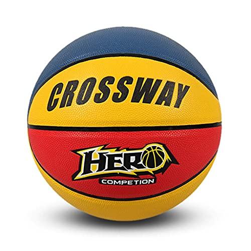 YCX Color PU Juego de Baloncesto Entrenamiento Pelota Especial Tamaño 5, Fancy Color Street Basketball Diseñado para niños y Adolescentes