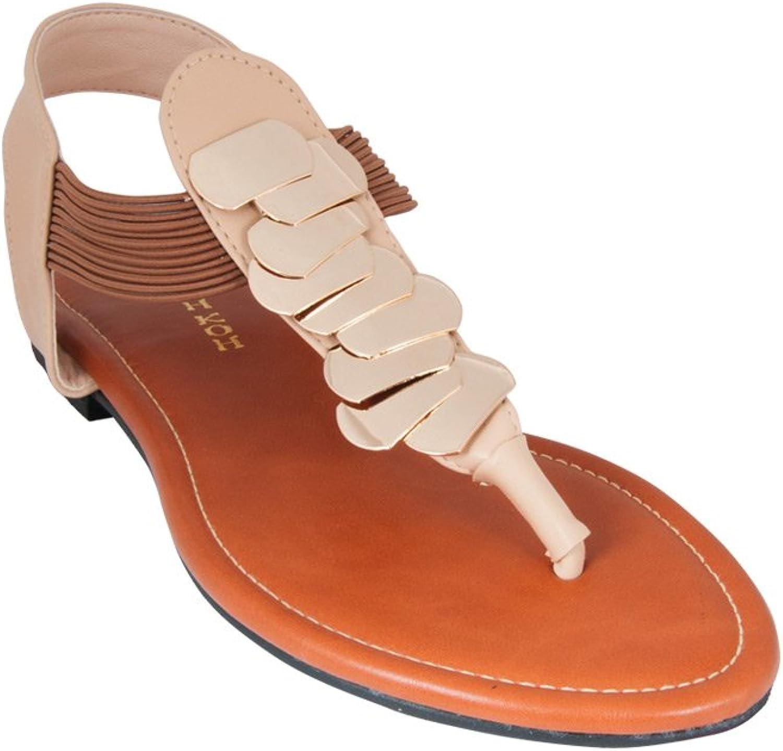 KOH KOH Women's Comfortable Strappy Summer Flat Slingback Sandals