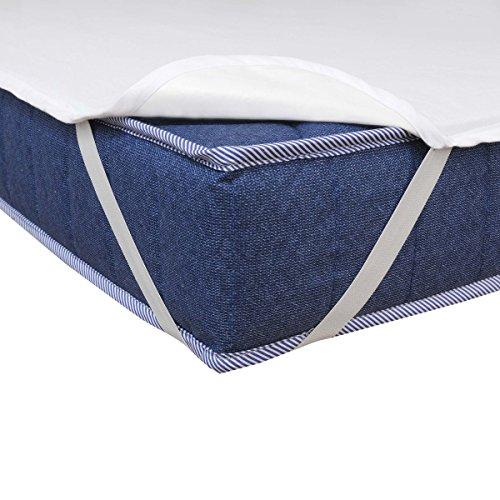 Matratzenschoner Wasserdicht Atmungsaktiv Moderno® Special Molton Betteinlage Inkontinenz mit 4 Übereckgummis in (Breite x Länge) 60x120cm