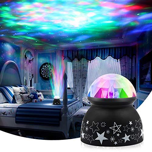 LED Projektor Lampe, Euproce Kinder Stimmungslicht für Kinderzimmer Schlafzimmer Wohnzimmer, Bunter Dynamischer Ozeanwellen Nachtlicht Projektor Lampe für Baby Kinder Geburtstag Weihnachts Geschenk