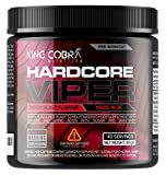 Hardcore Viper | Pre Workout Supplement, Berry Blast Flavour | with B12 for Energy, Metabolism & Nervous System | Features Creatine, Caffeine, Beta-Alanine and Glutamine | 40 Servings (300 Grams)