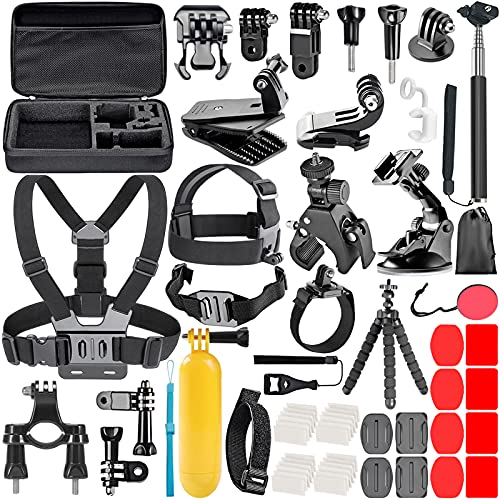Neewer 58-in-1 Accessori Kit compatibile con GoPro Hero Session/5 Hero 1 2 3 3+ 4 5 9 SJ4000 5000 6000 DBPOWER AKASO VicTsing APEMAN WiMiUS Rollei QUMOX Lightdow Campark e Sony Sport Dv
