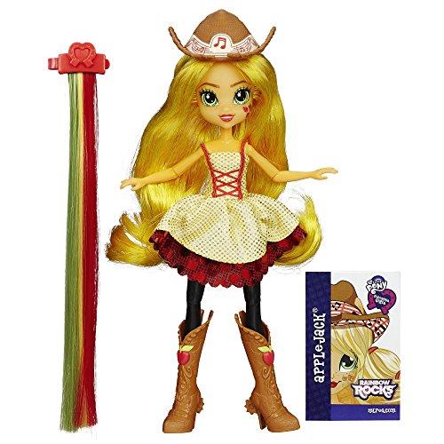 My Little Pony – Equestria Girls: Rainbow Rocks – Coiffure Tendance Apple Jack – Poupée 23 cm