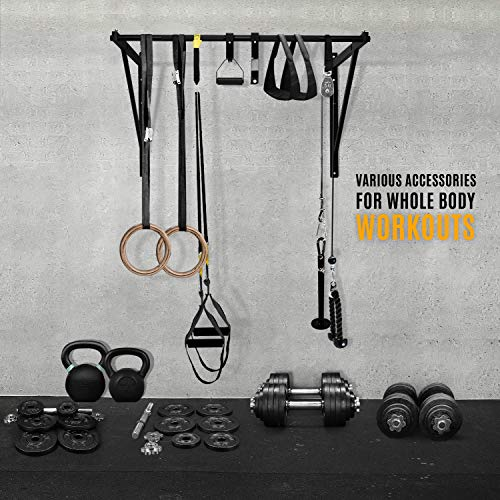 Product Image 4: Yes4All Heavy Duty Wall Mounted Pull Up Bar for Crossfit Training – Chin Up Bar/Pull Up Bar Wall Mount – Support up to 500 lbs (Black)