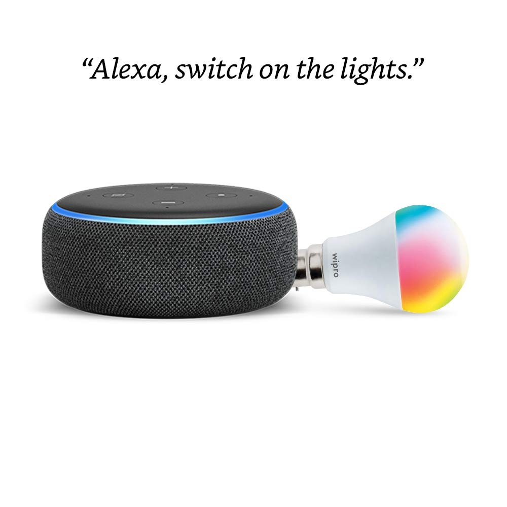 Echo Dot (3rd Gen) + Wipro 9W LED Bulb for ₹1,999