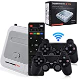 Hawiton Wireless Retro Game Console with TV System & Dual 2.4GHz Controllers Gamepads, Super Console X-Pro Video TV Game Console Built in 41000+ Games, 50+ Emulator Console for 4K TV HDMI/ AV Output