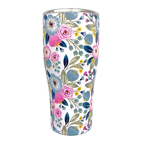 Inspring Stainless Steel Tumbler Vacuum Insulated Tumbler Floral Tumbler with Lid, 20oz