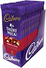CADBURY Chocolate Candy Bar, Fruit and Nut, 3.5 Ounce (Pack of 14)