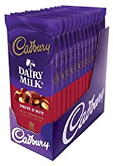 Smooth, velvety premium milk chocolate combines with plump raisins and crispy almonds to create a crunchy, chewy taste sensation. Try mixing Cadbury Bars with milkshakes, mousses, and more for a truly exceptional treat. Contains only 190 calories per...