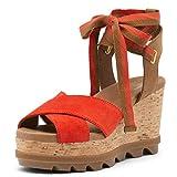 Sorel Women's Joanie II Hi Ankle Lace Wedge Sandal - Signal Red - Size 6